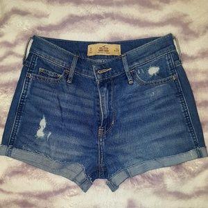 Size 0 Highrise Hollister Shorts